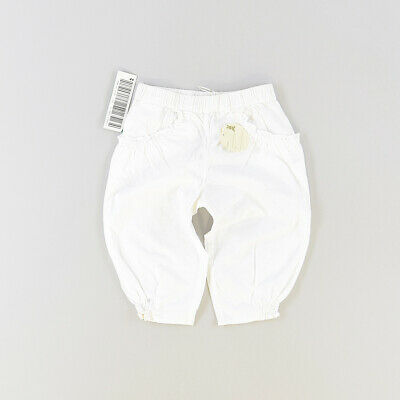 Pantalón color Blanco marca Benetton 9 Meses  515797