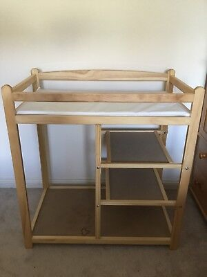 wooden baby changing table With Storage