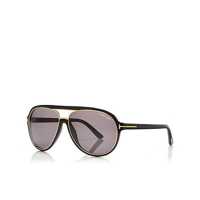 f052cebd0d0d SUNGLASSES TOM FORD Sergio FT 0379 60 14 140 01A Black Gold 100% Authentic  new -  127.00