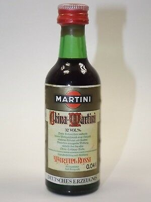 Martini China 4 cl 32% mini flasche bottle miniature bottela mignonnette Germany