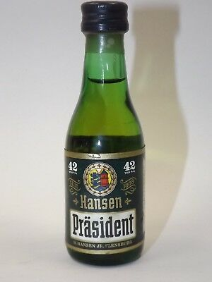 Rum Hansen Präsident  4 cl 42 %  mini flasche bottle miniature Old GERMANY