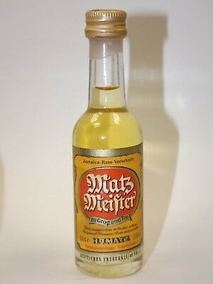 Rum Matz Meister 0,04 l 40 % mini flasche bottle miniature Old GERMANY