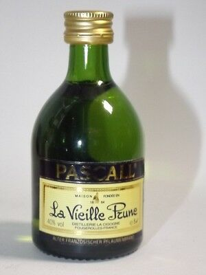 PASCALL La Vieille Prune 5 cl 40%  mini flasche bottle miniature FRANCE