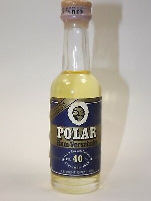 Rum POLAR Verschnitt KIEL 40 ml 40 % mini flasche bottle miniature Old GERMANY