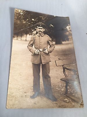 WORLD WAR II Original POSTCARD GERMAN UNIFORM Soldier Looks 1940s