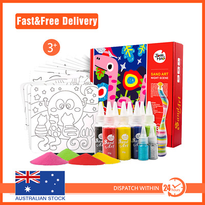 8 colours Kids DIY Colourful Sand Painting Art Creative Drawing Toys for Chil...