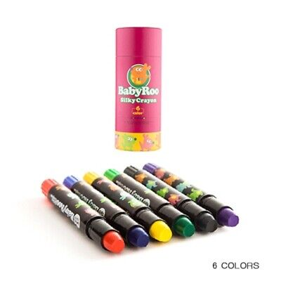 6Pack Colours Silky Crayon Twistable Washable Watercolour Stick Poster Paints