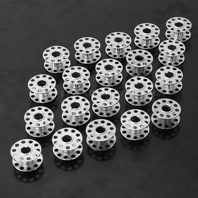 20Pcs Stainless Steel Sewing Machine Bobbins Silver for Home Factory Use Useful
