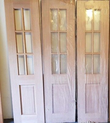 Timber 6 Lite French Door 2040 X 520 X 35mm No Glass 7000