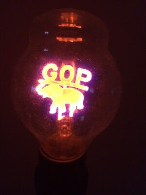 GOP Grand Old Party Vintage Light Bulb Republican Elephant New