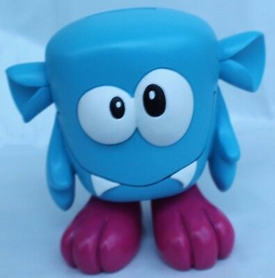 Blue monster money coin bank piggy hands feet ears eyes save