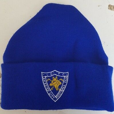 Leicester City Retro wooly Hat Beanie Hat The Foxes Blue Army