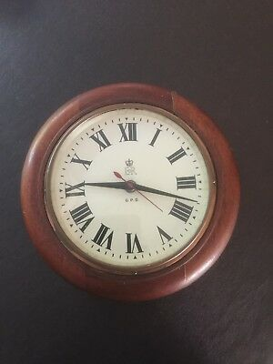 GPO Electric wall clock circa 1950's