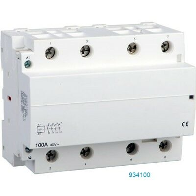 100Amp 4 Pole Lighting Contactor Slim Line N/O 120V Coil DIN mount 60A, 90A, 80A
