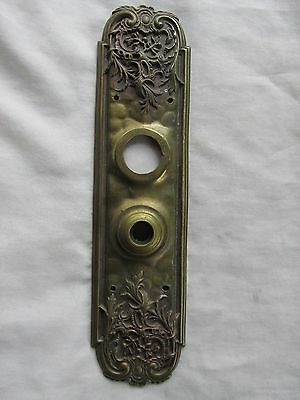 Antique Reading Hardware Co. RH Co. Art Nouveau  Brass Door Knob Backplate