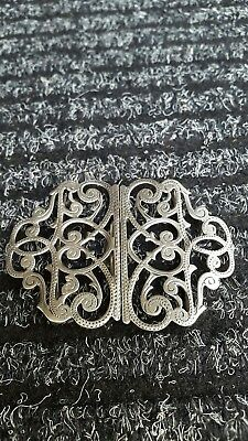 Antique/Vintage Solid Silver Nurses Belt Buckle Birmingham 1924 Adie & Lovekin