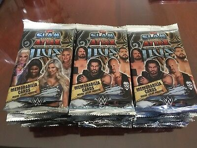 40 x NEW Topps WWE Slam Attax Live Trading Cards Brand New & Sealed Packets Pack