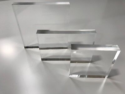 Acrylic blocks in 10, 20 and 30mm with polished edges