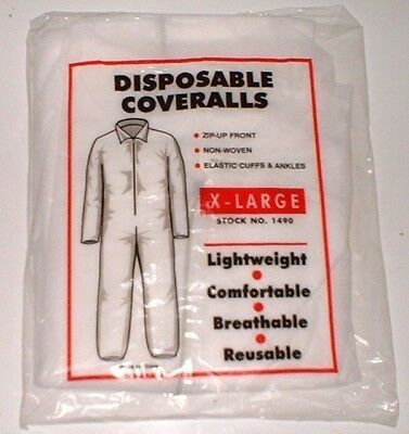 AES Disposable Coveralls Lightweight Painting Construction 1490 Size X-Large