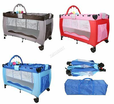 FoxHunter Portable Baby Cot Bed Kids Infant Playpen Bassinet Entryway BCB01