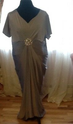 New Mother of the bride dress And Special Occasion Long Dress Gray size 14