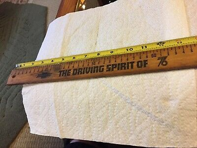 Vintage Chevrolet ( The Driving Spirit Of 76) Two Ft Yard Wood Yd Stick
