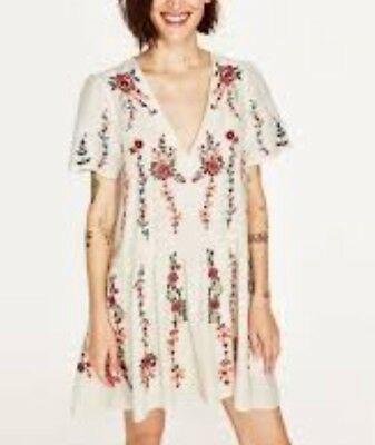 Zara SOLD OUT Blogger Favourite Floral Embroidered Dress   NEW WITH TAGS