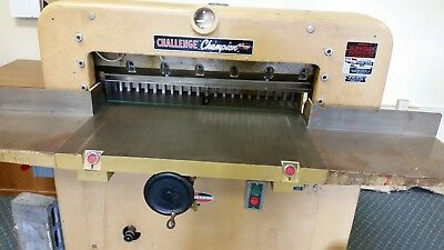 Challenge Guillotine Paper Cutter Model 305 Works Great! Used daily!