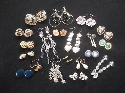 Joblot of Vintage/Retro Clip on, Hooks, Stud Earrings 20 Pairs - N01