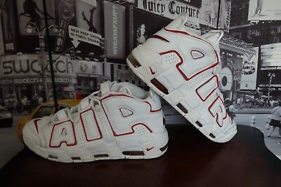 huge selection of 08e51 964aa 2006 NIKE AIR MORE UPTEMPO White Varsity Red Scottie Pippen US 12 312971 161