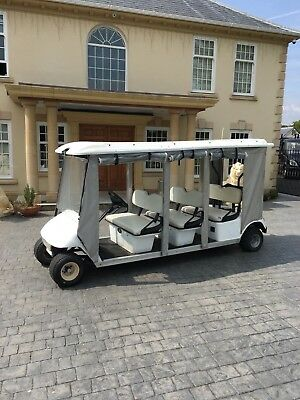 Ezgo Golf Buggy 6 Seater Electric Powered With Charger With new Batteries