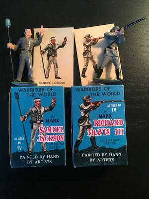 Pair Of Warriors Of The World Civil War Soldiers With Boxes & Cards Marx