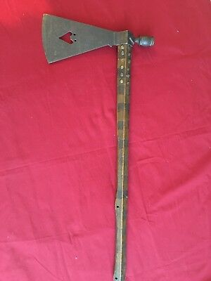 Antique Plains Native American Pipe Tomahawk w/Buffalo cut-out