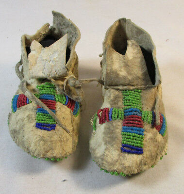 Beaded 1890's-1920's Baby/Child Sioux Moccasins #5959