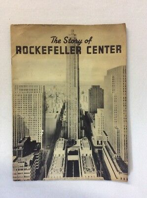 The Story Of Rockefeller Center: Souvenir Guided Tour 1939, Brochure B/W Photo