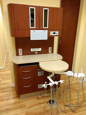 Belmont Dental Rear Treatment Cabinet, Duo Delivery & Positionable Work Surface