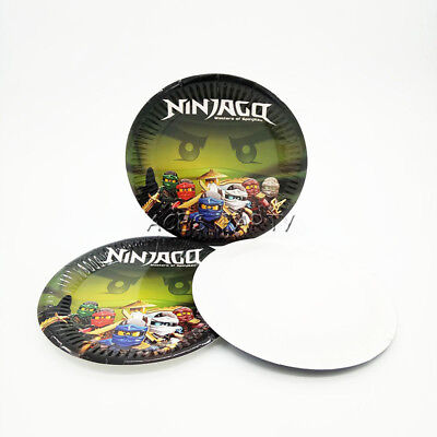 Ninjago Theme Party Decoration Disposable Tableware One-off Paper Plate Dishes