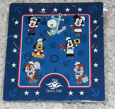 Disney * CRUISE LINE - MICKEY & FRIENDS - DCL * New in Package 7 Pin Booster Set