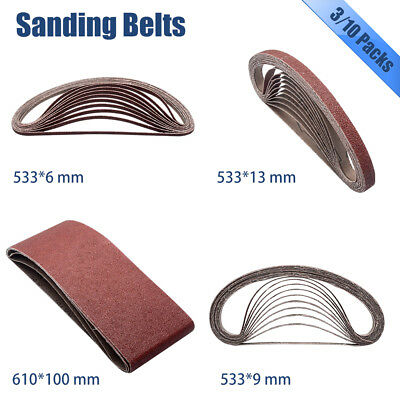 100x610mm 533x6/9/13mm SANDING BELT SHEETS SANDPAPER for MAKITA / BOSCH 3/10PCS