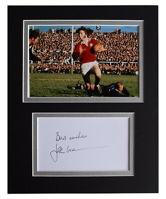 JPR Williams Signed Autograph 10x8 photo display Wales Rugby Union AFTAL COA