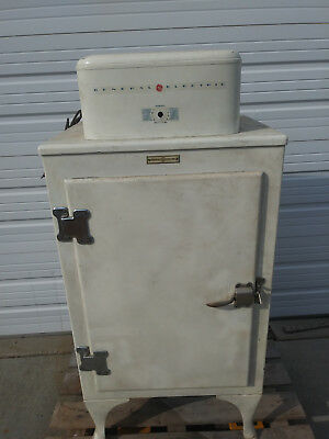 antique GE 'monitor top' refrigerator, model FEA, works