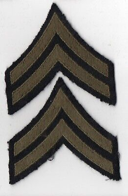 2 World War II US Army Corporal CPL  Rank Patches
