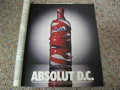 Absolut Washington D.C. DC Vodka Ad-9.5 x 11.5 inches-NY Times Magazine 1995