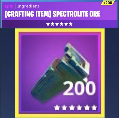 Fortnite 200x Spectrolite Ore PS4/PC (Save the world)