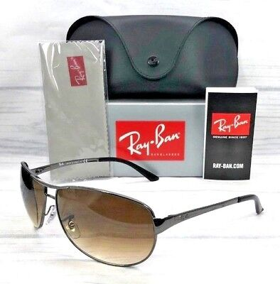 f61f7a0785 Ray Ban Warrior RB3342 004 51 Gunmetal   Brown Gradient 63mm Sunglasses