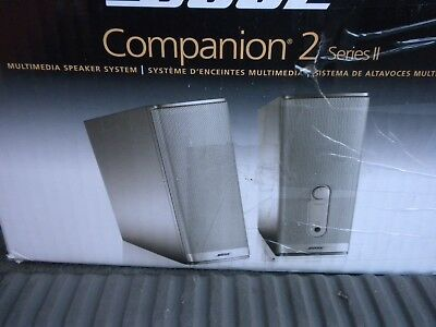 New Bose Companion 2 Series 2 Multimedia / Computer Speakers Free Shipping