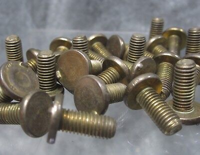 """LOT of 5 NOS Solid Brass 1/4-27 X 9/16"""" Finial Screws"""