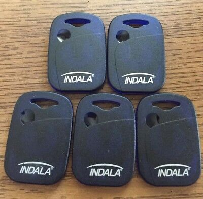 HID Indala FlexKey Prox Keytag Pass Key LOT OF 5  P/N FPKEY-SSSS-0000 NEW