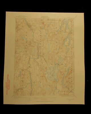 Livermore Maine 1959 vintage USGS Topographical chart map