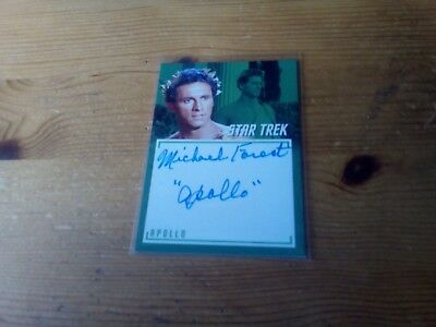 Star Trek Tos The Captain's Collection 2018 Autograph Of Michael Forest Card A 7